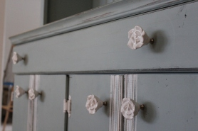 Ceramic Rose Drawer Pulls